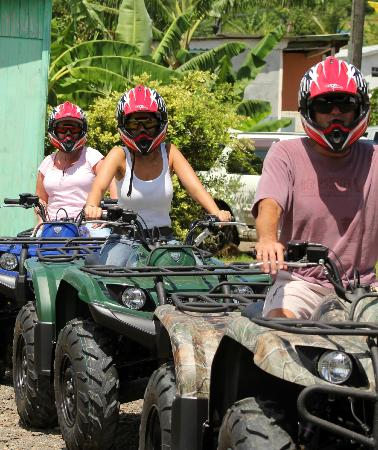 Aanansi ATV Tours : Just embarking on our Aanansi ATV Experience