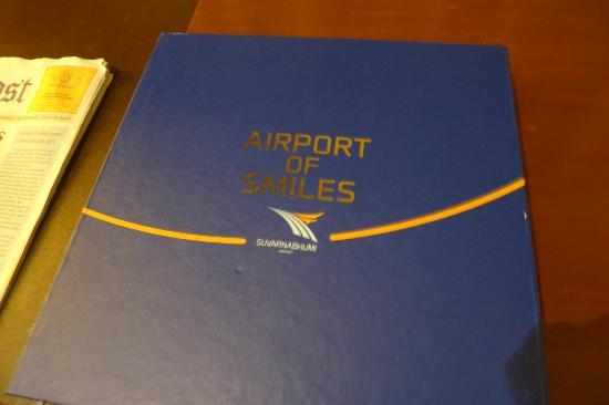 Novotel Bangkok Suvarnabhumi Airport: Room Service Menu