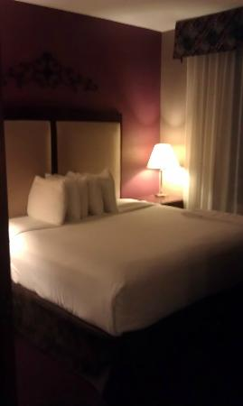 BEST WESTERN PLUS Hannaford Inn & Suites: Bed from the kitchen area