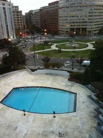 Washington Plaza: View from suite window!