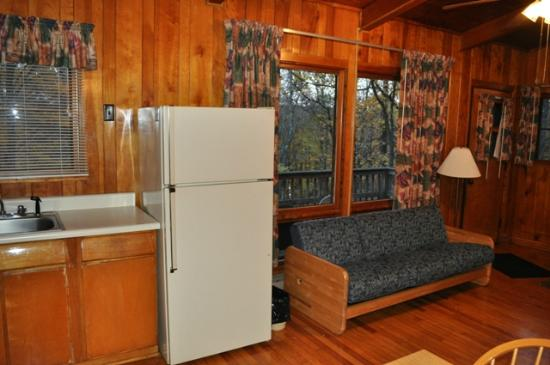 Tygart Lake State Park: Tygart Lake_Cabin 3_Kitchen Living Room