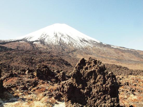 Walking Legends: You can see the volcanic rocks as you walk toward the mountain