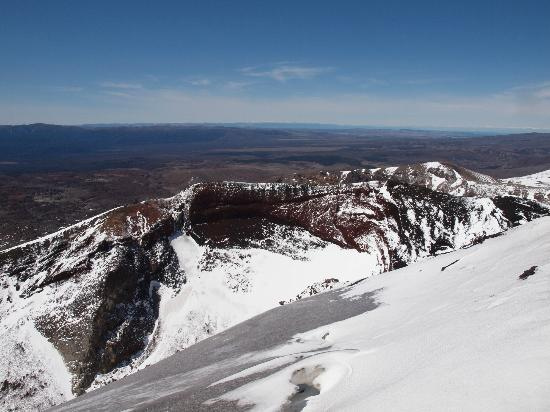 Walking Legends: This the crater at the top where Tongariro blew its top 5000 years ago.