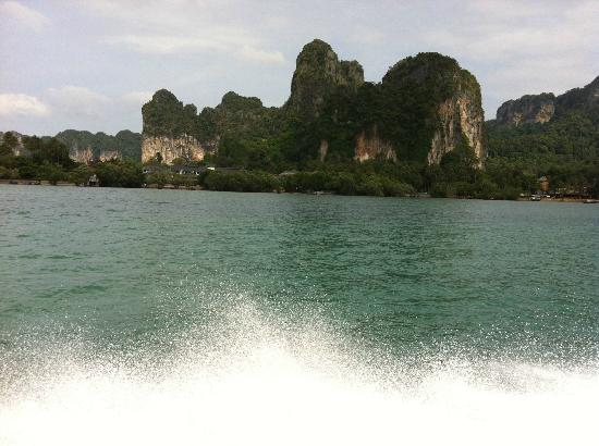 ‪‪Rayavadee Resort‬: From the boat arriving at Krabi‬
