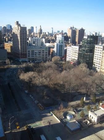 W New York - Union Square: Overlooking the park in a corner suite.