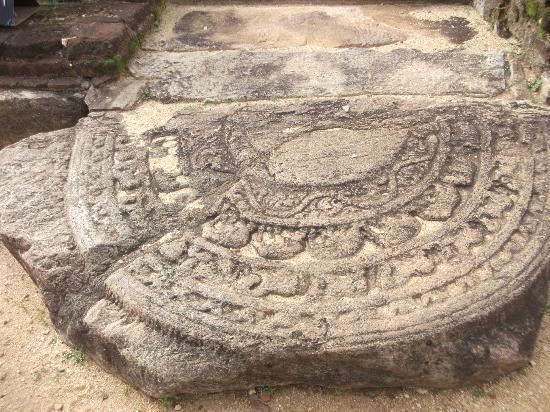 Polonnaruwa, Sri Lanka: Moonstone