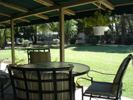 SmokeTree Resort & Bungalows: View from our Patio
