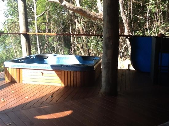 Bloomfield Lodge: our hot tub
