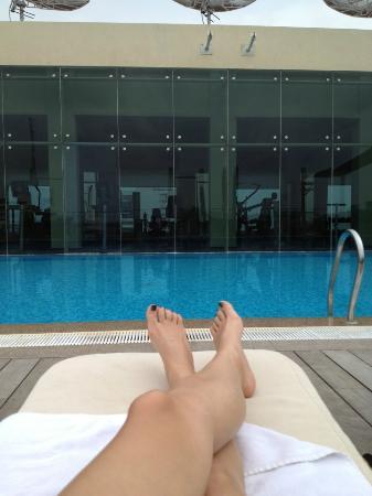 Taj Club House: Pool/ Gym view