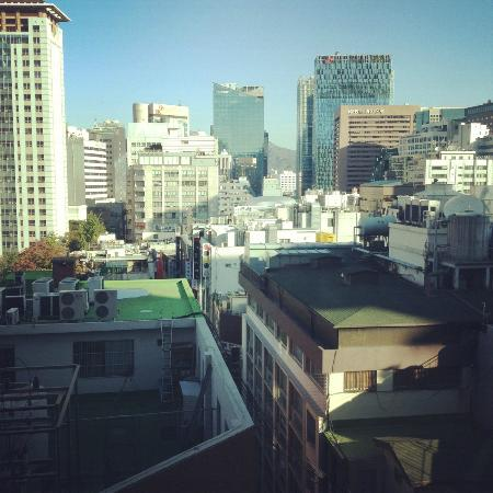Hotel Skypark Myeongdong I: Another view from my room.