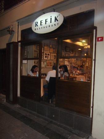 Refik exterior at night