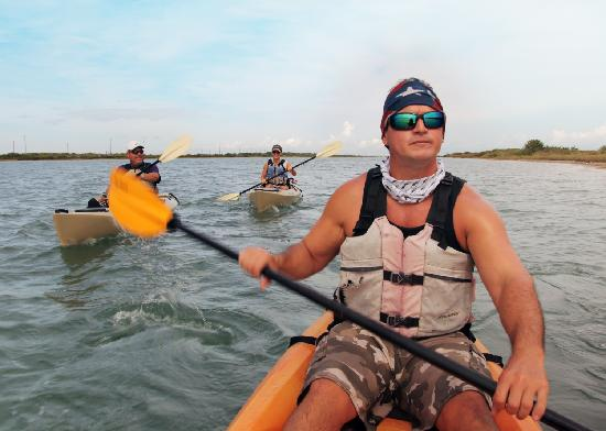 Port Aransas, TX: Coastal kayaking - heading out to the Lighthouse Lakes Trail near Port A