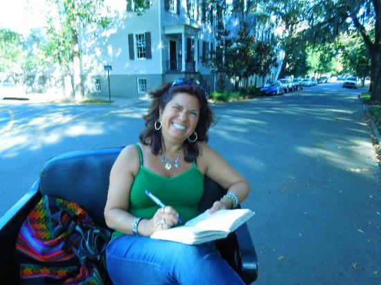 Roussell's Garden: On a Pedicab ride in the Historic Distric working on my book.
