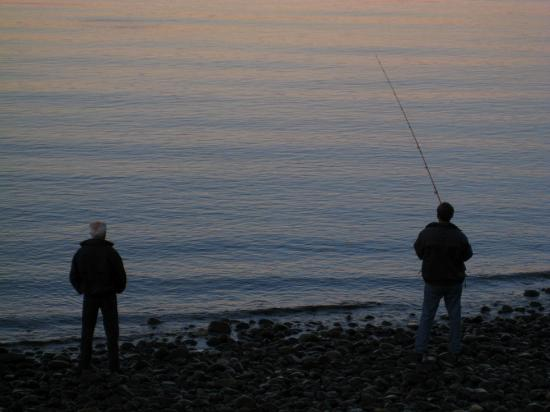 Salmon Point Resort RV Park & Marina: some evening fishing.....