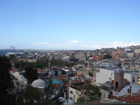 Stone Hotel: Vue de la terrasse
