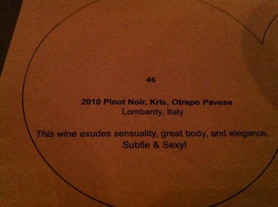 BIN 36 : One of the Wine Flight wines