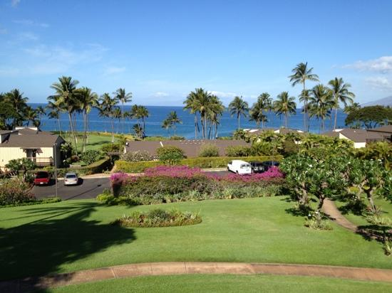 Wailea Elua Village: View from the deck of Elua 2306