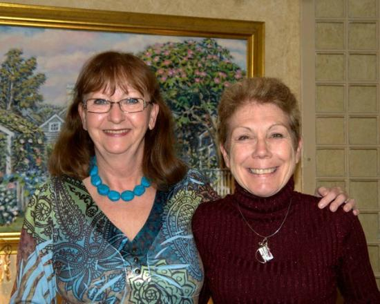 Cliff Lodge: Sally (on left) with my wife, Anne