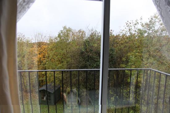Inglenook Guest House: View overlooking balcony from garden room