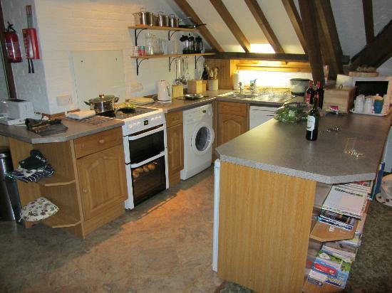 Brackenborough Hall Coach House Holidays: Kitchen in granary