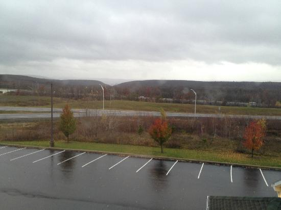 Country Inn & Suites by Radisson, Frackville (Pottsville), PA: View from my room of Superstorm Sandy