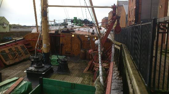 Hull & East Riding Museum: Arctic Corsair - forward deck