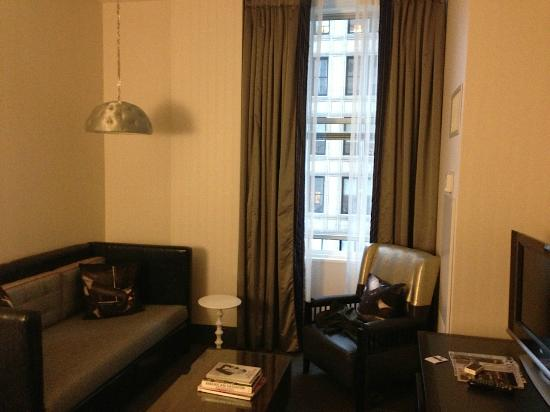 W New York - Union Square: living area, large sofa, could sleep 1