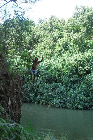Aston Aloha Beach Hotel: Secret Cliff Dive into the River