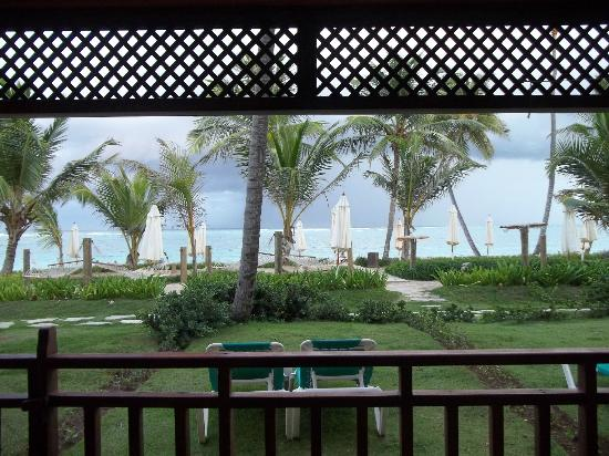 VIK hotel Cayena Beach: View from the back door of room 115 (Cayena side)