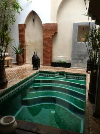 plunge pool in Riad Shambala
