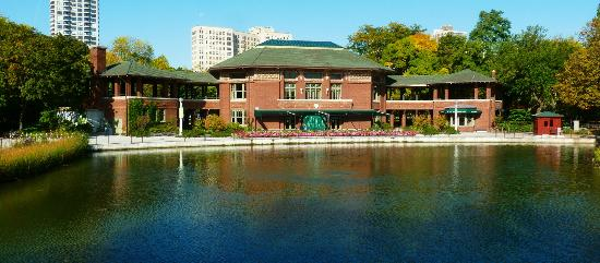 Cafe Brauer, Dwight Perkins, 1908, South Pond, Lincoln Park
