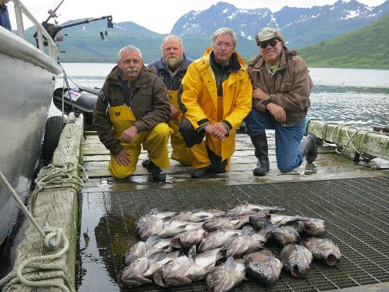 Catch of the day picture of kodiak adventures lodge for Kodiak fishing charters
