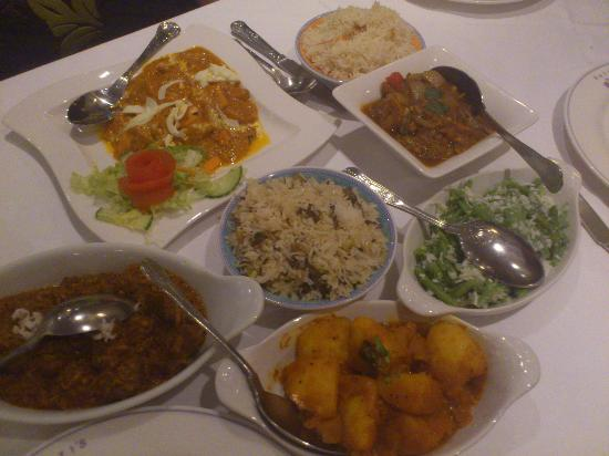 Kohinoor of Kerala: Our meal (my Lamb Ulathiya Masala on the left)