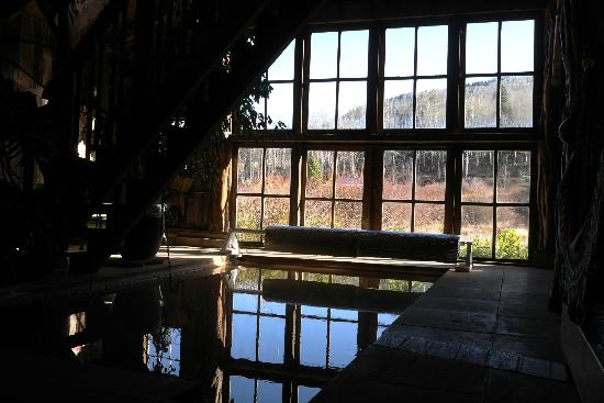 Dunton Hot Springs: From inside Bath-house