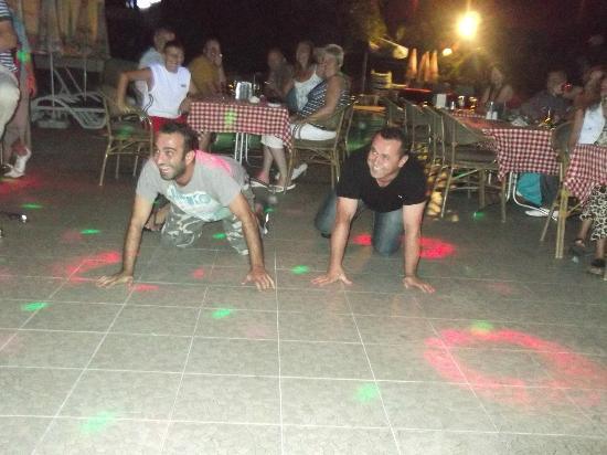 Villa Sun Apartments: Baz and Rambo providing the entertainment