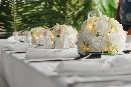 موري بيتش ريزورت: Stunning reception set-up