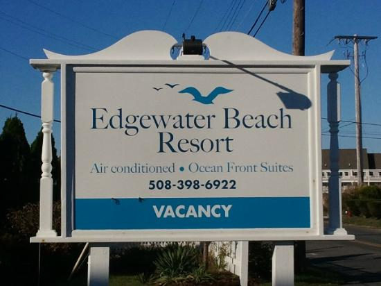Edgewater Beach Resort: Resort sign