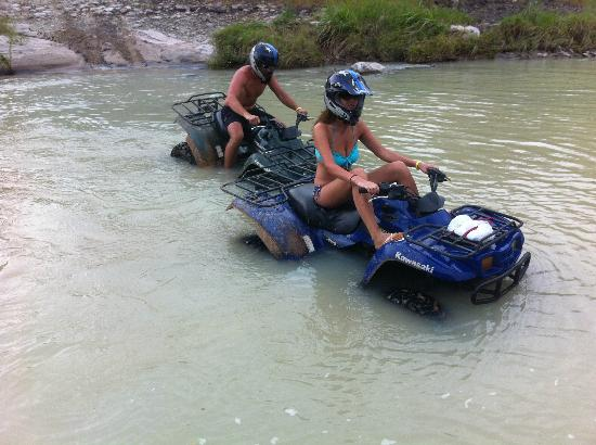 Royal Decameron Beach Resort, Golf & Casino : Stuck in the river on the 3 hour ATV excursion