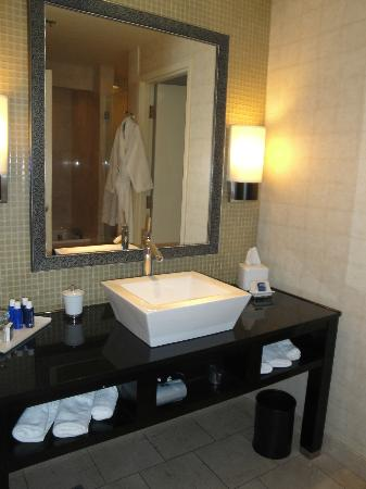 MotorCity Casino Hotel: Elegant bath and shower.