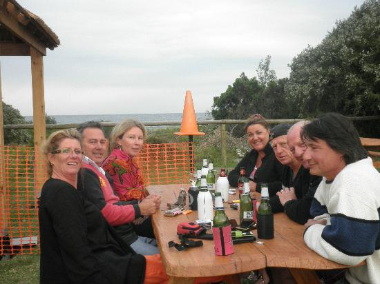 Tathra Beachside: Watching the whales from the front of our Villa