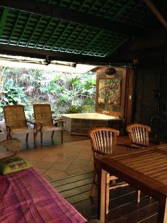 Amazing Wollumbin Palms Retreat at Mt Warning: spa room outdoor