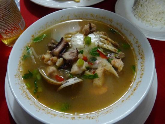 Hotel Casa Tago : Sopa de Mariscos (Seafood Soup) at El Balcon