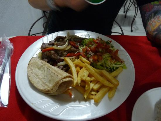 Hotel Casa Tago : Steak Fajitas at El Balcon