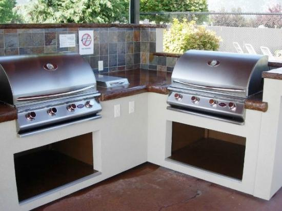 Mountain View Lodge & Resort : 4 huge BBQ Grills. We have grilling kits in the office!