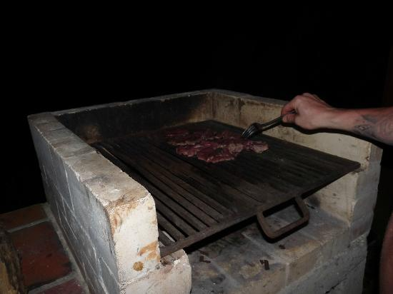 Tree House Lodge: Our $4 steaks on the stone grill - Beach House