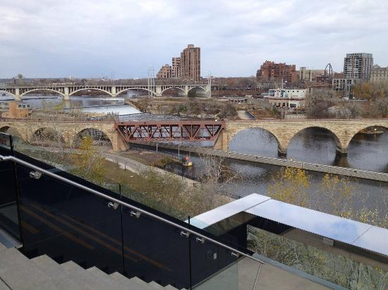 Guthrie Theater: Mississippi River and Stone Arch Bridge