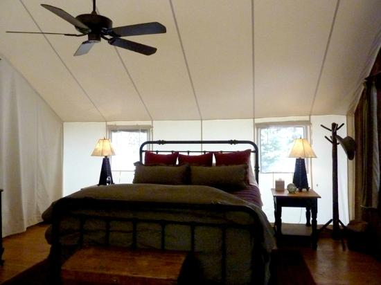The Ranch at Rock Creek: inside glamping tent