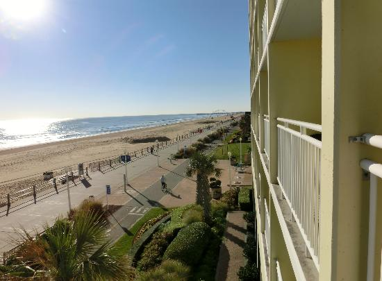 Holiday Inn Express Hotel Suites Virginia Beach Oceanfront Ocean Front View From 3rd Floor