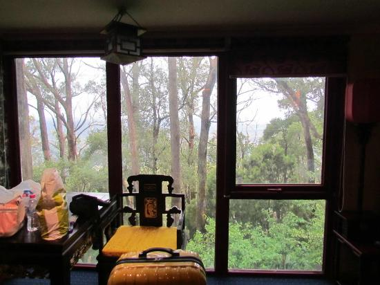 Mt Dandenong Imperial Retreat: Our view from the Emperor's Room
