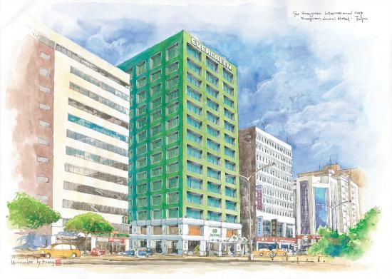 Evergreen Laurel Hotel: Hotel (hand draw)